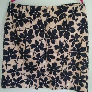 Jeoffrey Beene floral print skirt